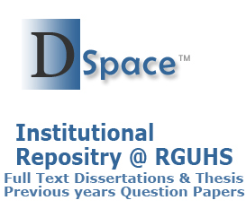 rguhs thesis topics dspace